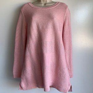 TABLOTS Woman Light Pink Pullover Knit Sweater ~X